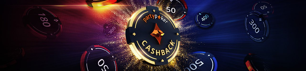 40 % кешбека PartyPoker